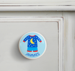 Boy's Pajamas Ceramic Drawer Knob 2""