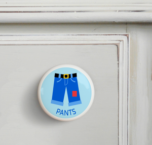 Boy's Pants Ceramic Drawer Knob 2""