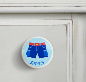 Boy Shorts Ceramic Drawer Knob 2""