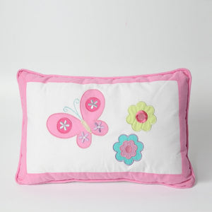Pink Flowers Decorative Pillow