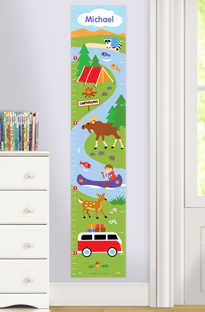 Camping Trip Self-Adhesive Growth Chart