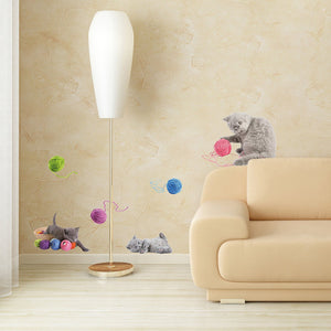 Playful Kitty Cat Wall Decals Peel and Stick Stickers