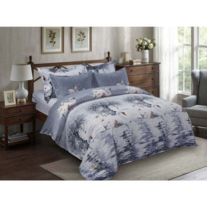 White Swans on a Lake Duvet Cover Bedding Set Queen or King Designer Ensemble