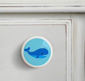 Whale Ceramic Drawer Knob