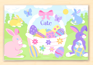 Easter Basket Girl Placemat