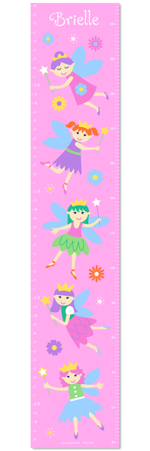 Fairy Pink Self-Adhesive Growth Chart