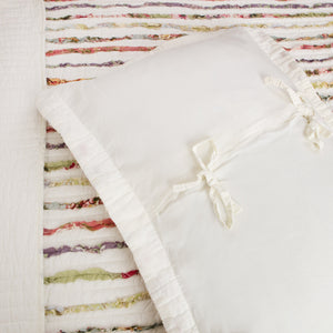Shabby Chic White Bella Ruffled Girls Bedding Twin Full/Queen King Bedspread Quilt Set Ivory w/ Multicolor Ruffles