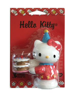 Hello Kitty with Party Hat & Cake Birthday Party Candle Cake Topper 3.5""