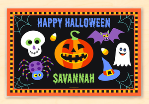 "Scary Halloween Personalized Placemat 18"" x 12"" with Alphabet"