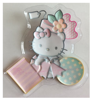"Hello Kitty Cake Topper Party Pop Top Plastic Decoplac 4 3/4"" x 5"""