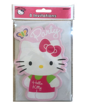 Hello Kitty Die Cut Party Invitation Cards 8 CT