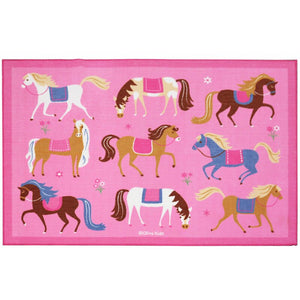 "Horses Pink Kids Area Rug 39"" x 58"" or 5' x 7'"