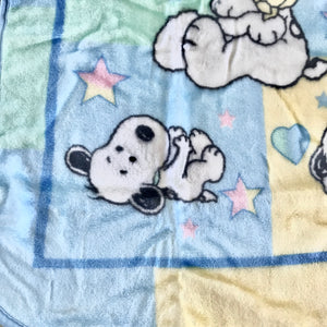 "Vintage Baby Snoopy Blanket Luxury High Pile Plush Throw 30"" x 43"""