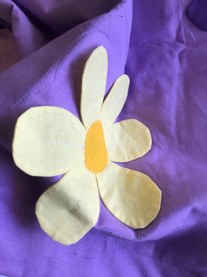Purple Daisies Floral Pillow Sham for Girls