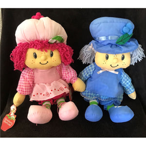 "Vintage Strawberry Shortcake Blueberry Muffin 18"" Rag Plush Doll by Urban Nation Rare Collectible"