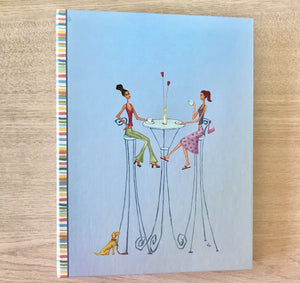 Fun Whimsical Blue Modern Chic Photo Album Girl Friends 204 Photos