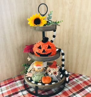 Rustic Three-Tiered Display Stand