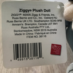 "Vintage 'Fangtastic Halloween' Ziggy Dracula Plush Rag Message Doll 10"" Tall NWT 2005 Collectible"