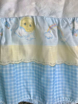 Vintage Precious Moments Love One Another 5pc Nursery Collection - Baby Crib Bedding Set Boy Girl