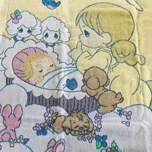 "Precious Moments Precious Gifts From Above Angel & Baby Triple Woven Jacquard Baby Crib Blanket Throw 47"" X 60"" & Keepsake Pillow"