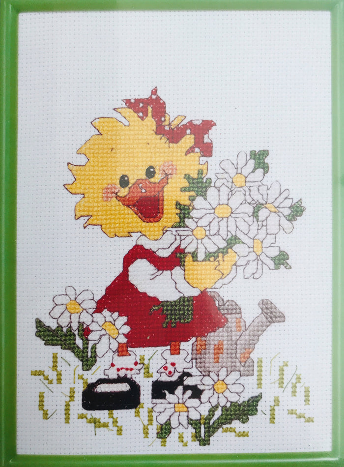 Suzy's Zoo Vintage Counted Cross Stitch Kit with Frame Friends & Flowers Suzy Ducken