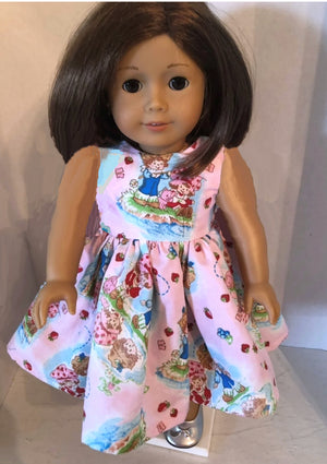 Handmade Strawberry Shortcake American Doll Sleeve-less Dress