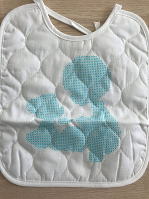 Precious Moments Counted 2-Piece Cross Stitch Kit Baby's Arrival Stamped Keepsake Bib Set