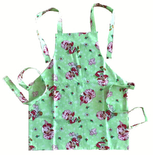 NEW Handmade Strawberry Shortcake Child Apron from Vintage Fabric 2-ply Reversible