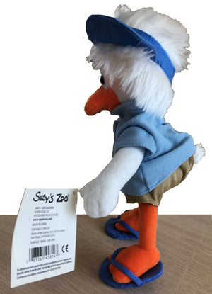 "Suzy's Zoo Jack Quacker Poseable Collectible Plush Toy 9"" by Applause"