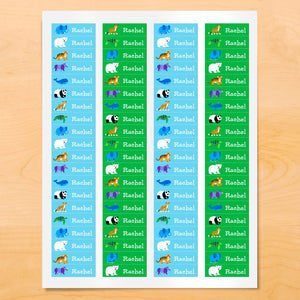 Endangered Wild Animals Personalized 80 CT Waterproof Mini Labels