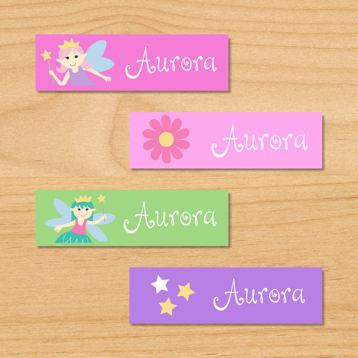 Fairy Princess Personalized 80 CT Waterproof Mini Labels