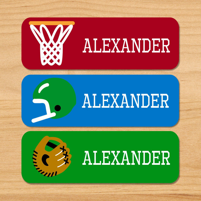Game On Sports Personalized 33 CT Rectangle Waterproof Labels