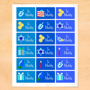 Personalized Hanukkah Gift Tags From or To