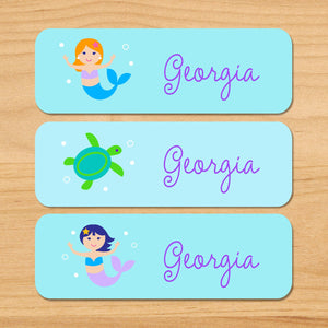 Fairy Princess Personalized 33 CT Rectangle Waterproof Labels