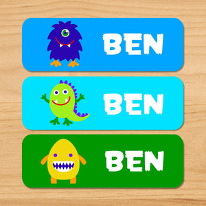Alien Monsters Personalized 33 CT Rectangle Waterproof Labels