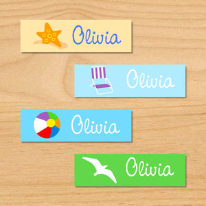 Summertime Personalized 80 CT Waterproof Mini Labels