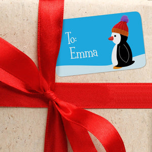 Penguin Personalized Christmas Gift Tags From or To