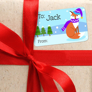 Cozy Critters Personalized Christmas Gift Tags From or To