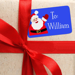 Blue Personalized Christmas Themed Gift Tags From or To
