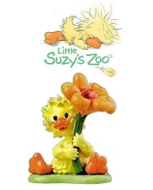 "Little Suzy's Zoo Witzy Duck Molded Party Candle Cake Topper 3"" Baby Shower/First Birthday"