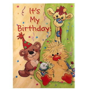 Little Suzy's Zoo My Birthday Party Invitation Cards 6 CT - Baby Animals Witzy Duck Boof Bear Patches Giraffe Lulla Bunny