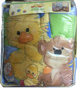 Little Suzy's Zoo Baby Animals 3pc Crib Bedding Set Witzy's Treasures Boy or Girl