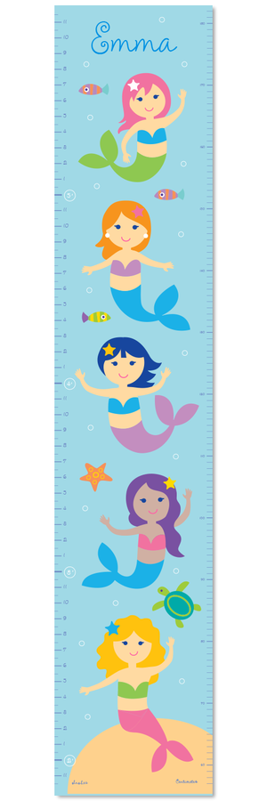 Mermaids Self-Adhesive Growth Chart