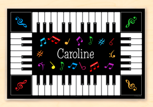 "Piano Personalized Placemat 18"" x 12"" with Alphabet"