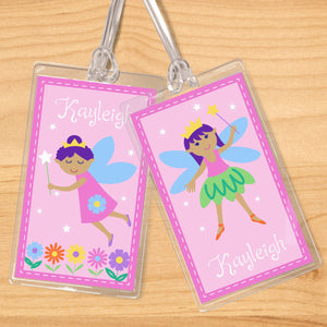 Fairy Princess Pink Personalized 2 PC Kids Name Tag Set