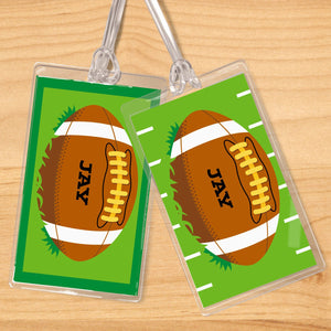 Football Personalized 2 PC Kids Name Tag Set