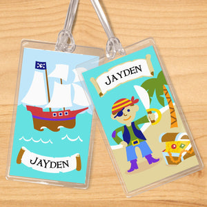 Pirates Personalized 2 PC Kids Name Tag Set