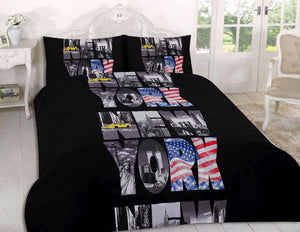 Letters Black New York NYC Bedding Duvet/Comforter Cover Set Twin Full Queen King