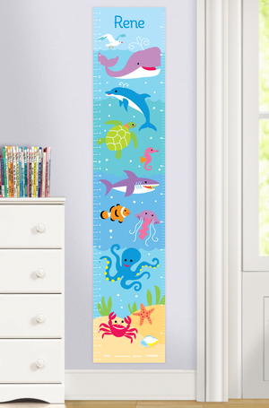 Ocean Sea Fish Self-Adhesive Growth Chart