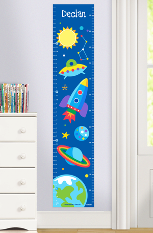 Outer Space & Rocket Self-Adhesive Growth Chart